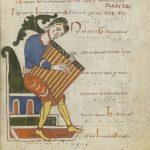 reproduction d'un partition médiévale