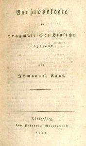 couverture de l'anthropologie d'un point de vue pragmatique de kant, édition 1798