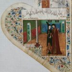 Johannes Bedyngham, Gentil madona (Paris, BnF, Rothschild 2973 [dit « Chansonnier de Jean de Montchenu »], f. 3v – Manuscrit copié en Savoie ca 1470-1477)