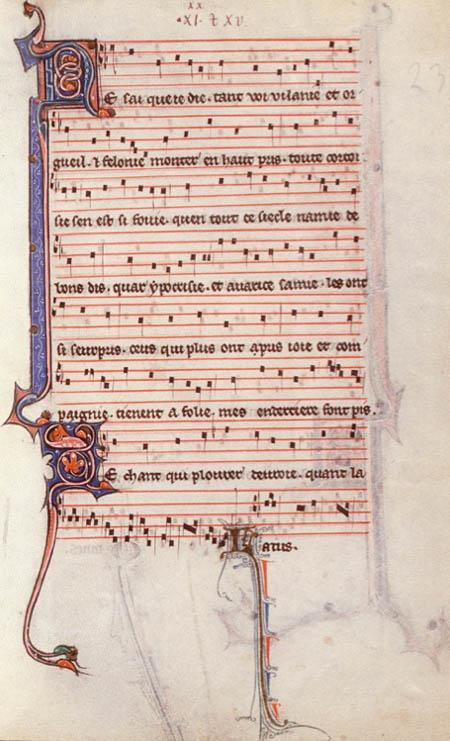Motet Ne sai que je die / JOHANNE (Montpellier, Bibl. interuniversitaire, fac. Médecine, H 196, f. 235r – Section du manuscrit copiée à Paris ca 1270-80)