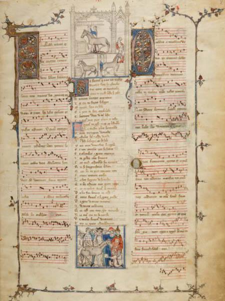 Le début du Roman de Fauvel (Paris, BnF, fr. 146, f. 1r – Manuscrit copié à Paris ca 1316-1317)