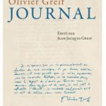 Journal, d'Olivier Greif