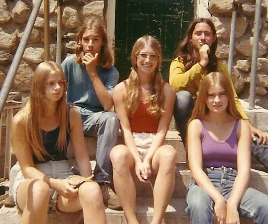 groupe de jeunes américains en 1972